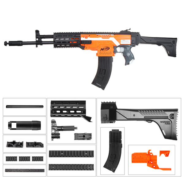 JGCWorker AK-12-AB Style Kits Set for Nerf N-strike Elite Stryfe Blaster - Nerf Mod Kits -Worker Mod Kits