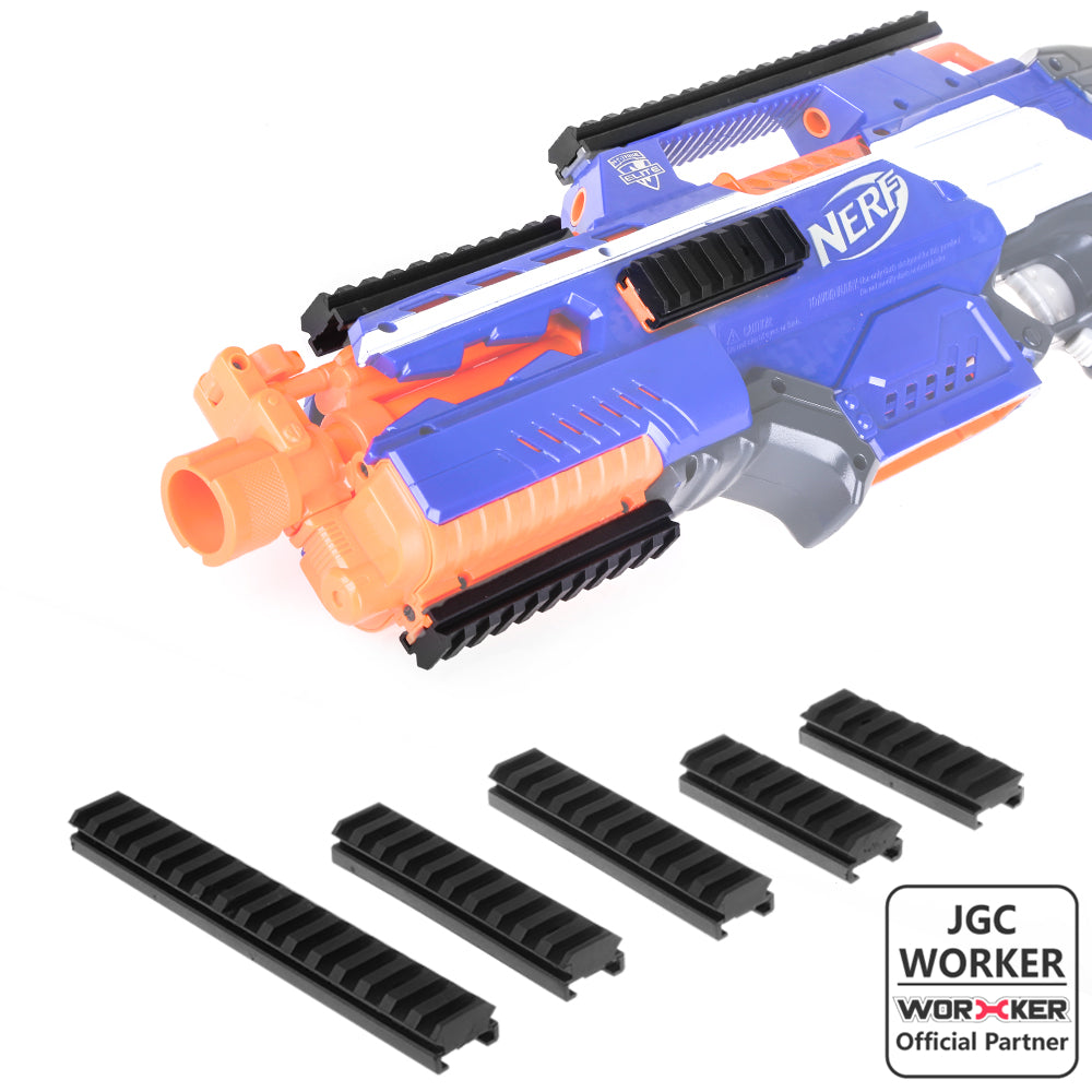 JGCWORKER TACTICAL PICATINNY RAIL FITTING Sets for Nerf - Nerf Mod Kits -Worker Mod Kits