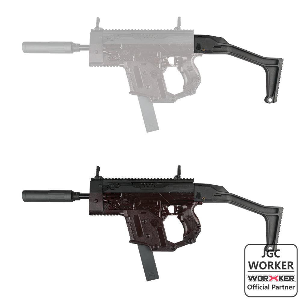JGCWorker TSC Style Fixed Butt Stock - Nerf Mod Kits -Worker Mod Kits