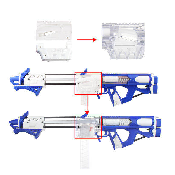 JGCWorker Caliburn Magwell - Transparent - Nerf Mod Kits -Worker Mod Kits