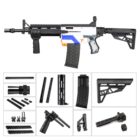 JGCWORKER M4 Avenger Kits Set for Nerf N-Strike Elite Retaliator - Nerf Mod Kits -Worker Mod Kits