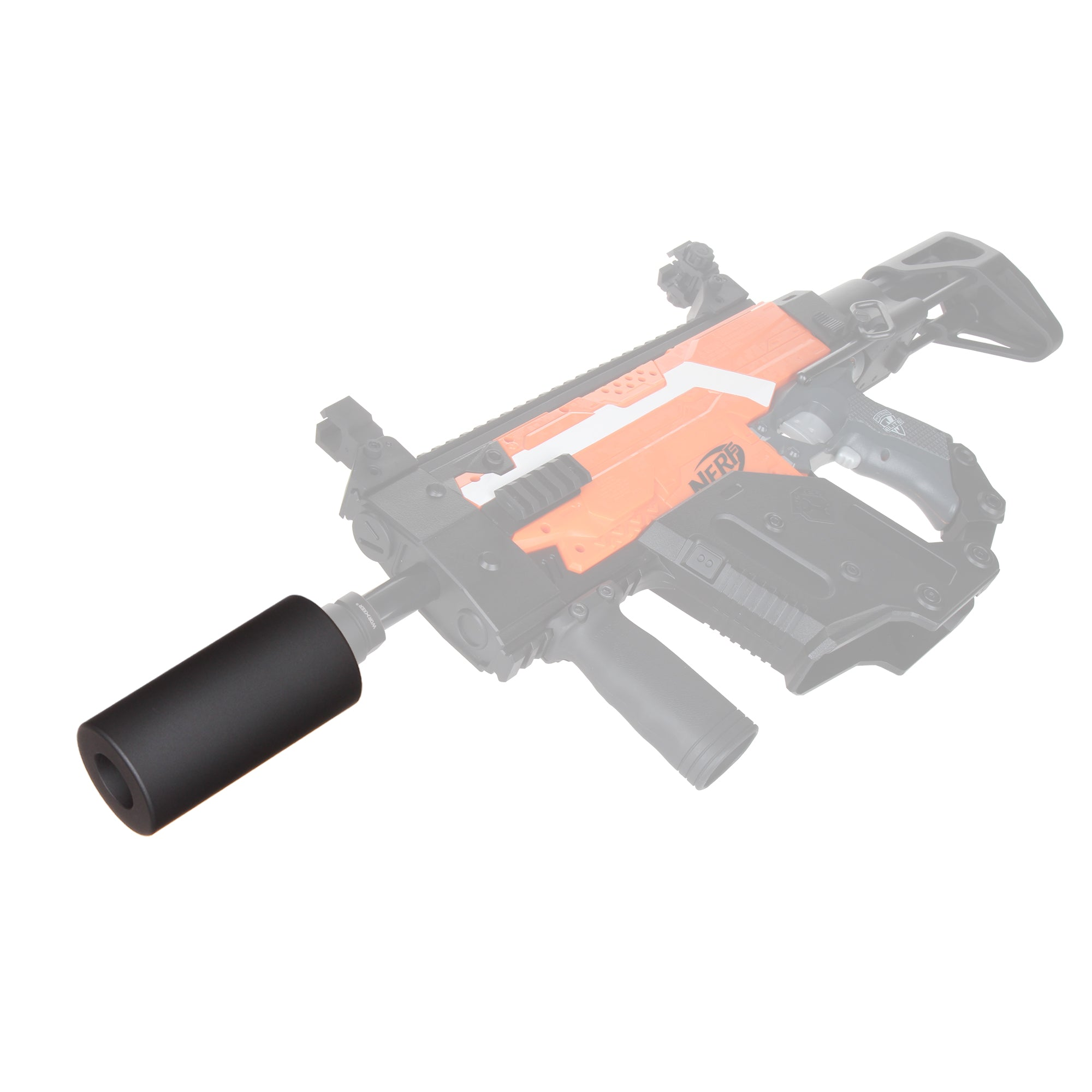 JGCWORKER Screw Thread Type ABS Plastic Smooth Short/Long Silencer for Nerf