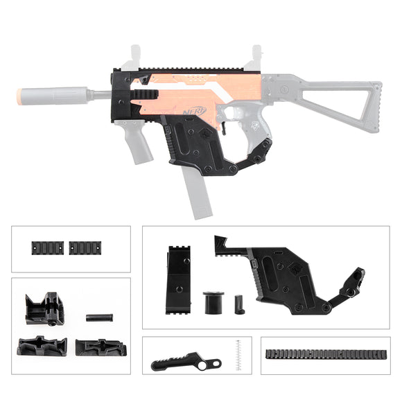 JGCWorker STF-W004-8 H Style KRISS Vector Mod Kits Set for Nerf N-Strike Elite Stryfe Blaster - Nerf Mod Kits -Worker Mod Kits