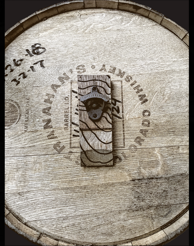 Whiskey Barrel Stave Bottle Opener