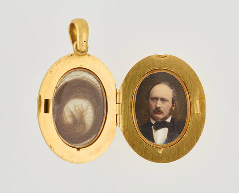 Queen Victoria's Locket containing hair from her beloved Prince Albert. Cremation jewelry has been around for centuries and was very popular in the Victorian Era