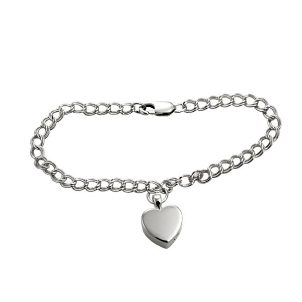 Bracelet - Heart Shaped Charm Urn Cremation Bracelet
