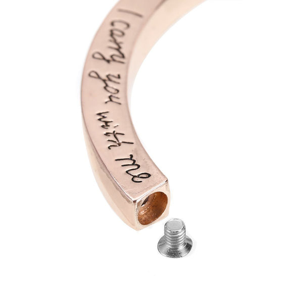 "Bracelet - ""I Carry You With Me. Always In My Heart""  Cremation Bracelet"