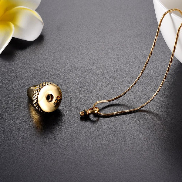 Cremation Necklace - Acorn Cremation Urn Necklace