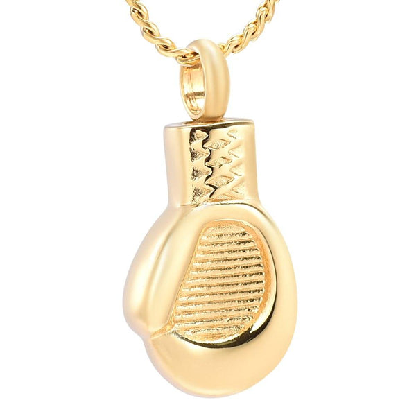 Cremation Necklace - Boxing Glove Cremation Urn Necklace