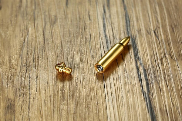 Cremation Necklace - Bullet Shaped Cremation Necklace
