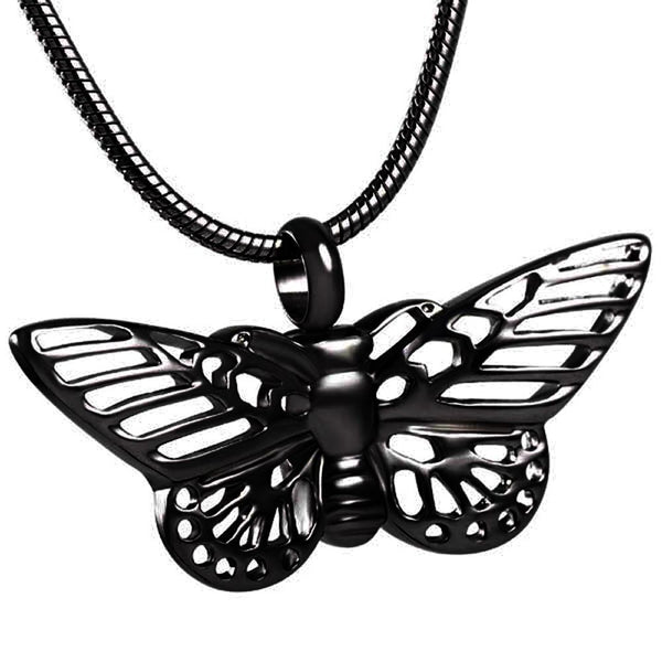 Cremation Necklace - Butterfly Shaped Cremation Urn Necklace