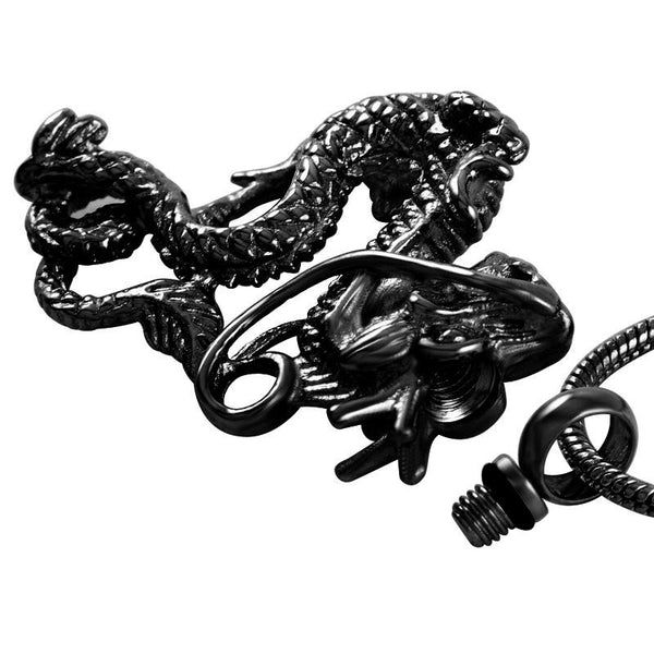Cremation Necklace - Chinese Dragon Cremation Urn Necklace