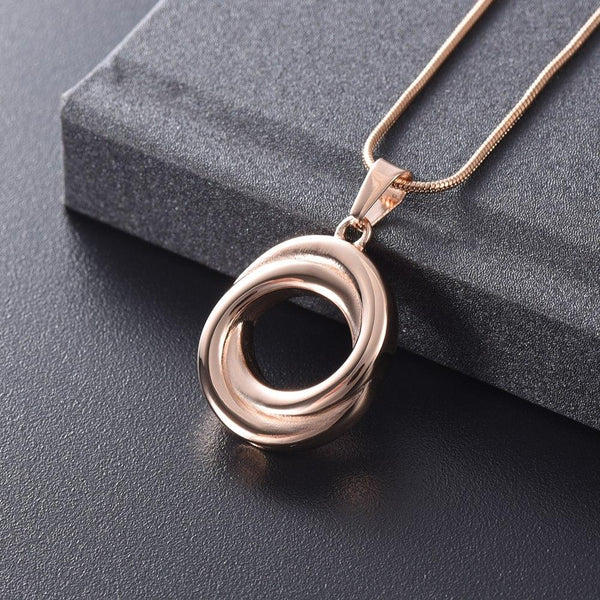 Cremation Necklace - Circle Of Life Cremation Urn Necklace