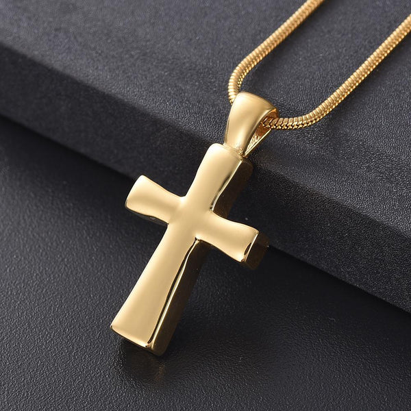 Cremation Necklace - Classic Cross Cremation Urn Necklace