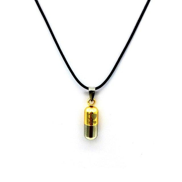 Cremation Necklace - Colored Cylinder Love Cremation Urn Necklace