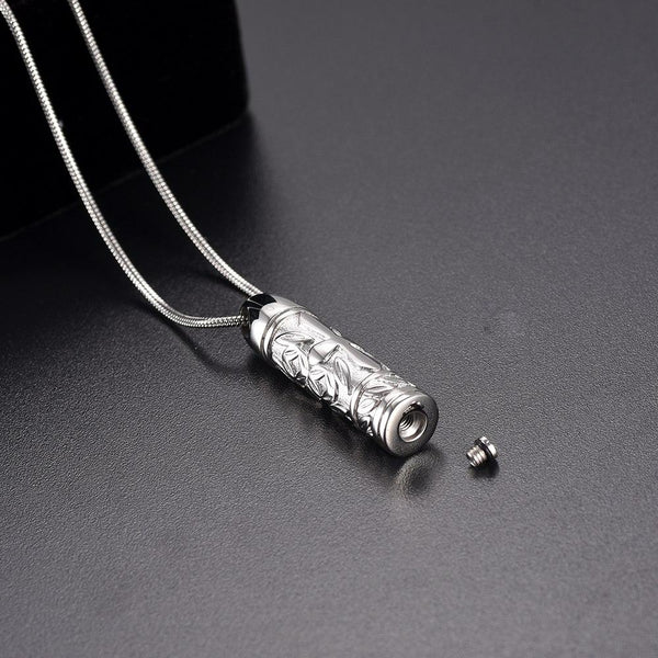 Cremation Necklace - Cross Cylinder Cremation Urn Necklace