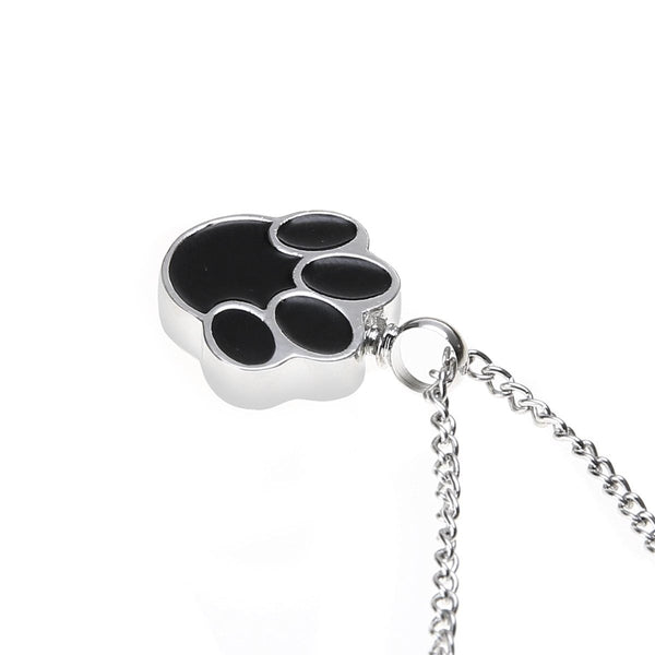 Cremation Necklace - Cute Pet Paw Cremation Necklace