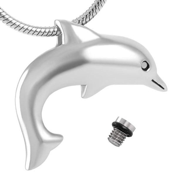 Cremation Necklace - Dolphin Shaped Cremation Urn Necklace