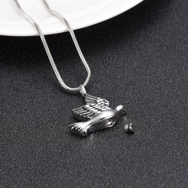 Cremation Necklace - Dove Shaped Cremation Urn Necklace