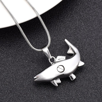 Cremation Necklace - Fish Shaped Cremation Urn Necklace