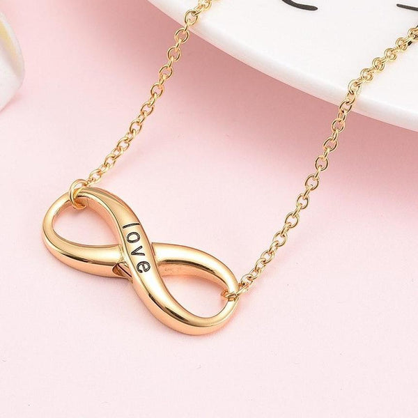 Cremation Necklace - Forever Love Infinity Shaped Cremation Urn Necklace