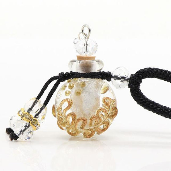 Cremation Necklace - Glass Flask Shaped Cremation Urn Necklace