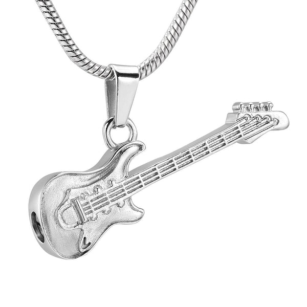 Cremation Necklace - Guitar Cremation Urn Necklace