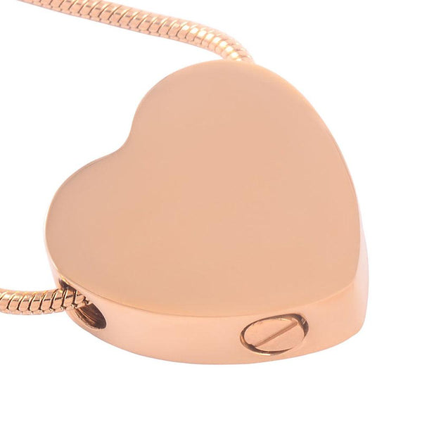 Cremation Necklace - Heart Shaped Cremation Urn Necklace