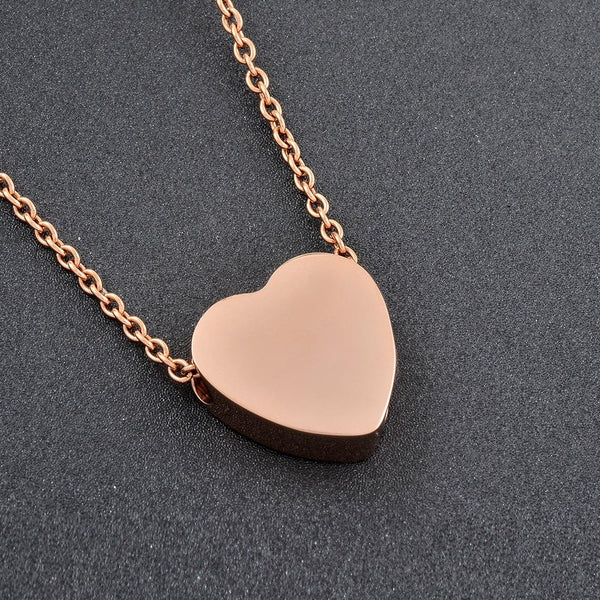 Cremation Necklace - Heart Shaped Cremation Urn Necklace With Etched Tree Of Life