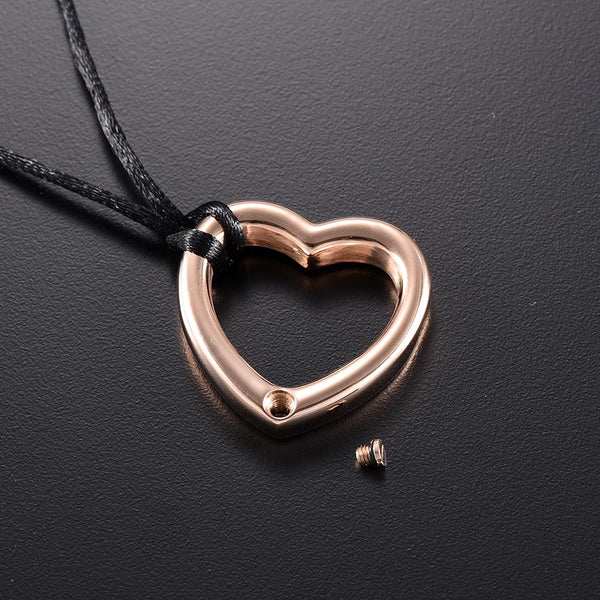 Cremation Necklace - Heart Shaped Modern Cremation Urn Necklace