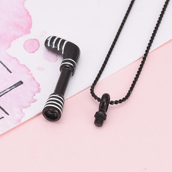 Cremation Necklace - Hockey Stick Cremation Urn Necklace
