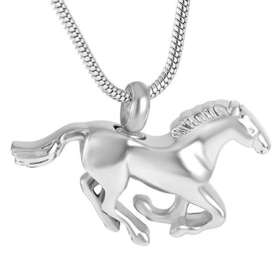 Cremation Necklace - Horse Shaped Cremation Urn Necklace
