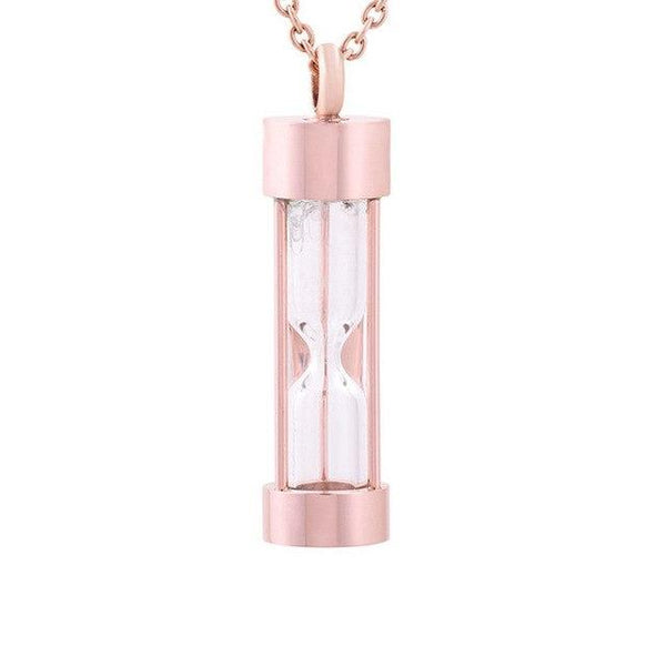 Cremation Necklace - Hourglass Cremation Urn Necklace