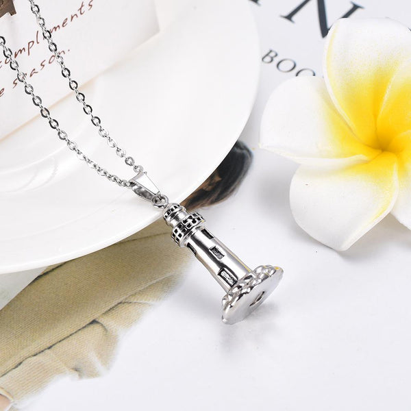 Cremation Necklace - Lighthouse Cremation Urn Necklace