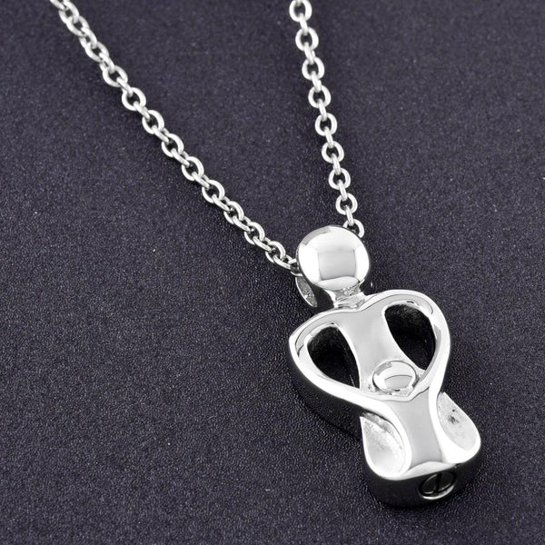 Cremation Necklace - Mom & Child Cremation Urn Necklace