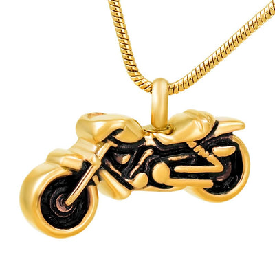Cremation Necklace - Motorcycle Cremation Urn Necklace