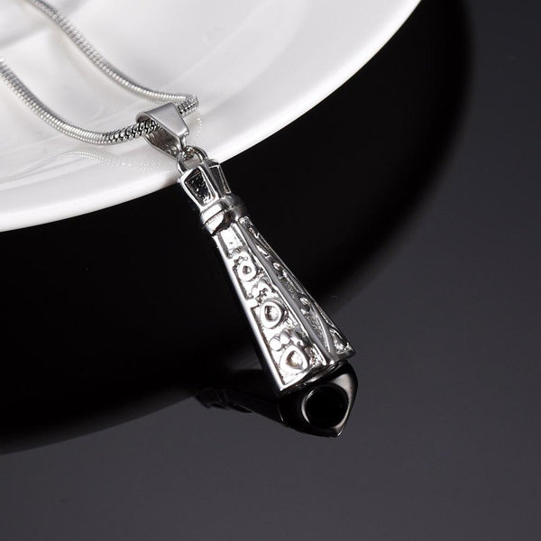 Cremation Necklace - Ornate Lighthouse Cremation Urn Necklace