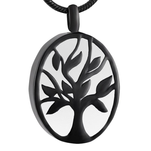 Cremation Necklace - Oval Tree Of Life Cremation Urn Necklace