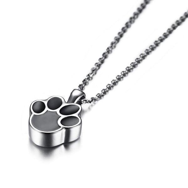Cremation Necklace - Paw Shaped Necklace Cremation Necklace