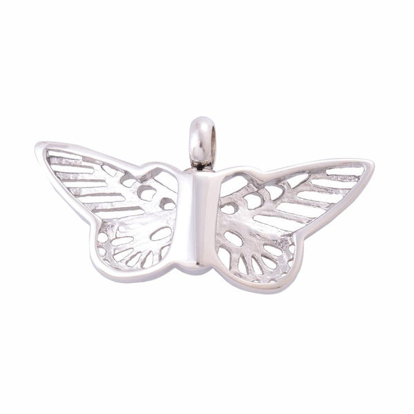 Cremation Necklace - Platinum Butterfly Necklace