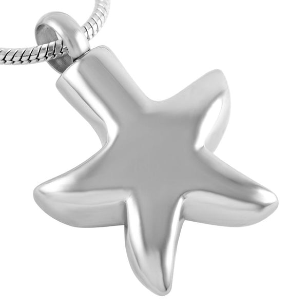 Cremation Necklace - Sea Starfish Cremation Urn Necklace