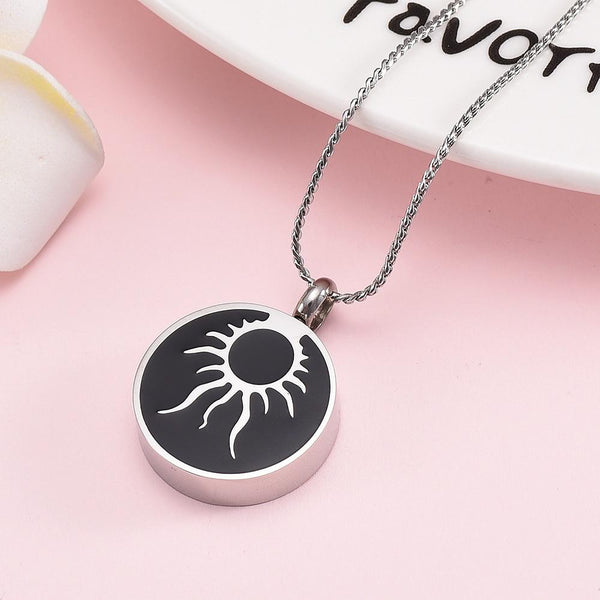 Cremation Necklace - Shining Sun Cremation Urn Necklace