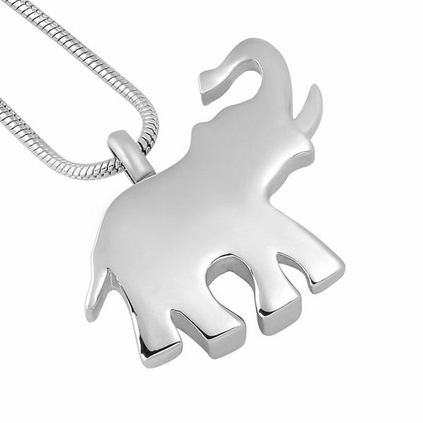 Cremation Necklace - Silver Elephant Cremation Urn Necklace
