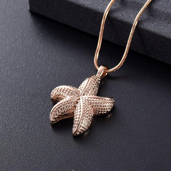 Cremation Necklace - Starfish Cremation Urn Necklace