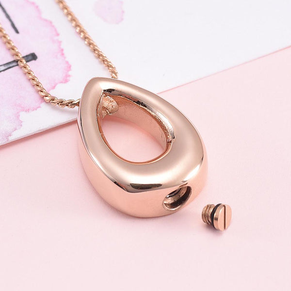 Cremation Necklace - Teardrop Cremation Urn Necklace