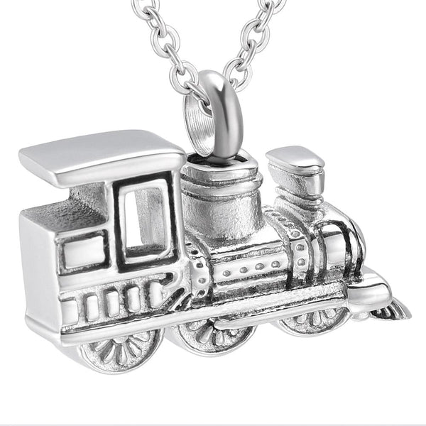 Cremation Necklace - Train Cremation Urn Necklace