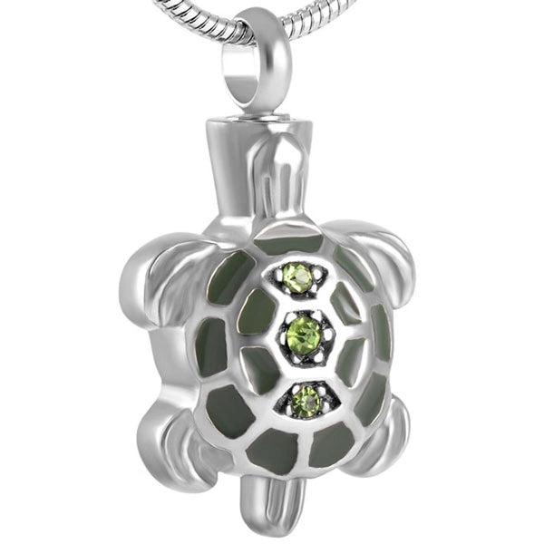 Cremation Necklace - Turtle Shaped Cremation Urn Necklace