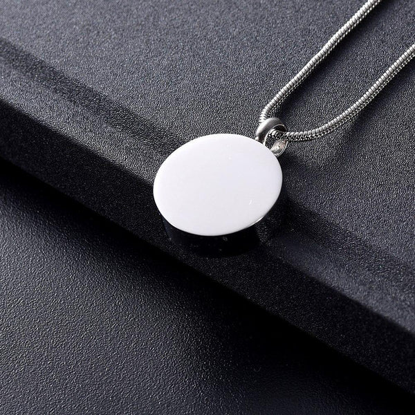 Cremation Necklace - Yin Yang Cremation Urn Necklace