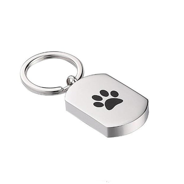 Keychain - Pet Footprint Cremation Urn Jewelry Keychain Dog Tag