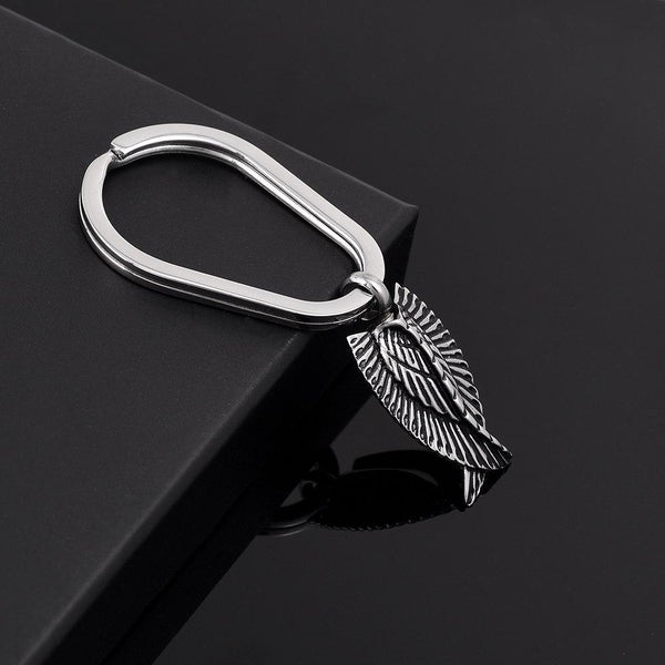 Keychain - Silver Angel Wings Cremation Urn Keychain